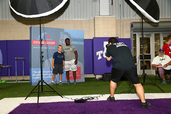 FT WORTH, TX - JUNE 19: LaDainian Tomlinson football camp at TCU Sammy Baugh indoor football practice facility in FT Worth on June 19, 2018 in FT Worth, Texas.