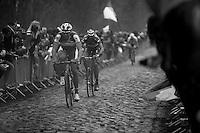 Paris-Roubaix 2012 ..Vladimir Isaichev at the Arenberg-section / Bois de Wallers