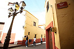 View of the acces to the famous Callejon del Beso (Alley of the Kiss) in Guanajuato city, February 13, 2008. Photo by Heriberto Rodriguez