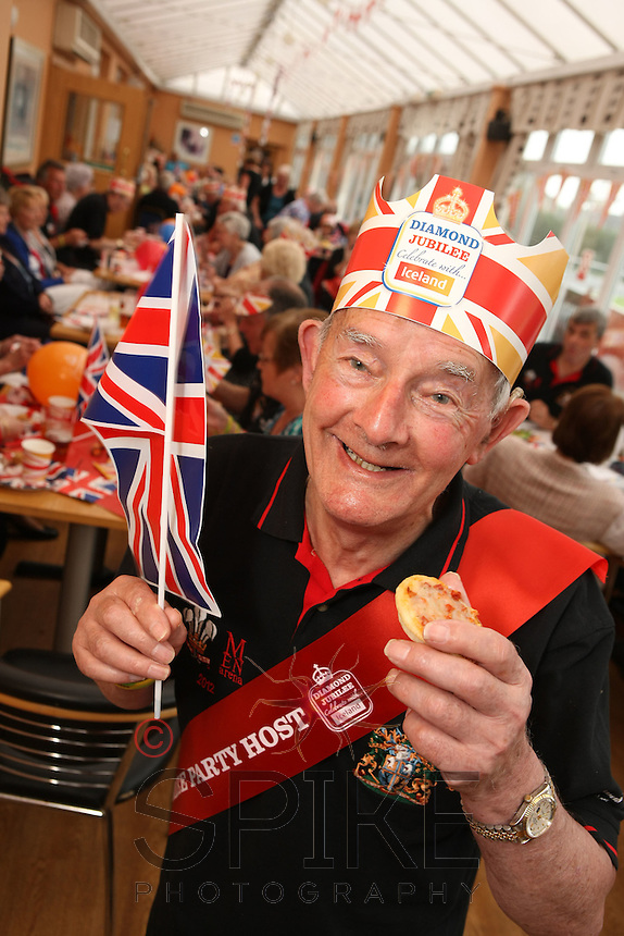 Walter Pitchford, winner of Iceland's competition to win a Jubilee Party for his pals in the Mansfield District Male Voice Choir