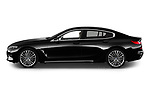 Car driver side profile view of a 2019 BMW 8 Series Basis 4 Door Sedan