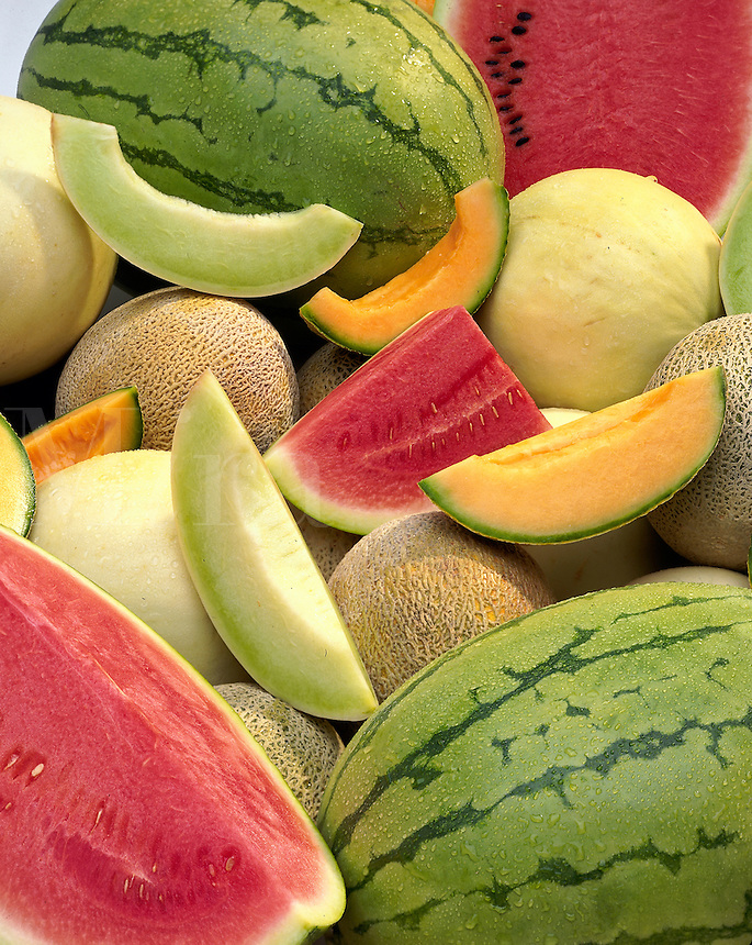 Watermelons, Honeydew and Cantalopes.