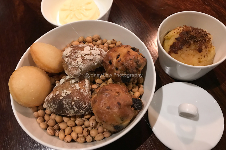 Bread and mashed potato at the Restaurant Horváth, Berlin, Germany. Photo Sydney Low