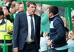 Celtic v St Johnstone …26.08.17… Celtic Park… SPFL<br />Tommy Wright talks with assistant Callum Davidson<br />Picture by Graeme Hart.<br />Copyright Perthshire Picture Agency<br />Tel: 01738 623350  Mobile: 07990 594431