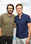 """Josh Groban and Josh Canfield backstage at the New York Musical Festival production of  """"Alive! The Zombie Musical"""" at the Alice Griffin Jewel Box Theatre on July 29, 2019 in New York City."""