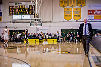18 December 2018: St. Bonaventure University Bonnies Head Coach Mark Schmidt, walks the sideline during the second-half of play against the University of Vermont Catamounts at Patrick Gymnasium in Burlington, Vermont. The Catamounts defeated the Bonnies 83-76 in a double-overtime NCAA DI game. Mandatory Credit: Ed Wolfstein Photo *** RAW (NEF) Image File Available ***