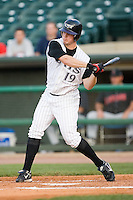 Louisville right fielder Jay Bruce (19) takes his cuts versus Indianapolis at Louisville Bats Field in Louisville, KY, Wednesday, August 8, 2007.