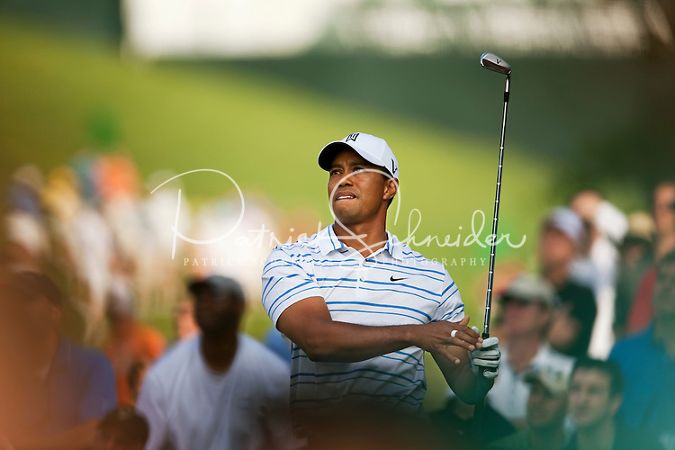 Golfer Tiger Woods plays the course during the Quail Hollow Championship golf tournament 2009. The event, formerly called the Wachovia Championship, is a top event on the PGA Tour, attracting such popular golf icons as Tiger Woods, Vijay Singh and Bubba Watson. Photo from the first round in the Quail Hollow Championship golf tournament at the Quail Hollow Club in Charlotte, N.C., Thursday, April 30, 2009.