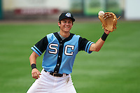 Syracuse Chiefs shortstop Trea Turner (4) during a game against the Pawtucket Red Sox on July 6, 2015 at NBT Bank Stadium in Syracuse, New York.  Syracuse defeated Pawtucket 3-2.  (Mike Janes/Four Seam Images)