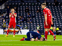 4th September 2021; Hampden Park, Glasgow, Scotland: FIFA World Cup 2022 qualification football, Scotland versus Moldova: Billy Gilmour of Scotland reacts to his shot and miss