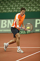 6-2-06, Netherlands, Amsterdam, Daviscup, first round, Netherlands-Russia, training, Jesse Huta Galung