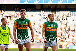 Adrian and Killian Spillane, Kerry, Players after the Senior football All Ireland Semi-Final between Kerry and Tyrone at Croke park on Saturday.