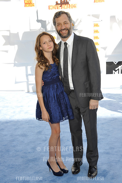Judd Apatow & Iris Apatow at the 2015 MTV Movie Awards at the Nokia Theatre LA Live.<br /> April 12, 2015  Los Angeles, CA<br /> Picture: Paul Smith / Featureflash
