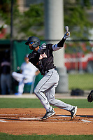 Jupiter Hammerheads Victor Victor Mesa (32) at bat during a Florida State League game against the Dunedin Blue Jays on May 15, 2019 at Jack Russell Memorial Stadium in Clearwater, Florida.  Jupiter defeated Dunedin 5-1 in seven innings, the first game of a doubleheader.  (Mike Janes/Four Seam Images)