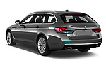 Car pictures of rear three quarter view of 2021 BMW 5-Series Luxury 5 Door Wagon Angular Rear