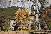 The  AHWAHNEE HOTEL was built in 1925 and was designed by architect Gilbert Stanley Underwood - YOSEMITE NATIONAL PARK, CALIFORNIA