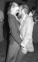 1977 FILE PHOTO<br /> New York City<br /> Jessica Lange Bob Fosse at Studio 54<br /> Photo by Adam Scull-PHOTOlink.net