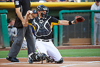 John Hester (22) of the Salt Lake Bees during the game against the Tacoma Rainiers in Pacific Coast League action at Smith's Ballpark on July 8, 2014 in Salt Lake City, Utah.  (Stephen Smith/Four Seam Images)