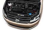 Car Stock 2016 Volkswagen Sharan Confortline 5 Door Minivan Engine high angle detail view