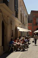 Café  in Oristano, Provinz Oristano, West - Sardinien, Italien