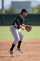 Chicago White Sox third baseman Jake Burger (18) during an Instructional League game against the San Diego Padres on September 26, 2017 at Camelback Ranch in Glendale, Arizona. (Zachary Lucy/Four Seam Images)