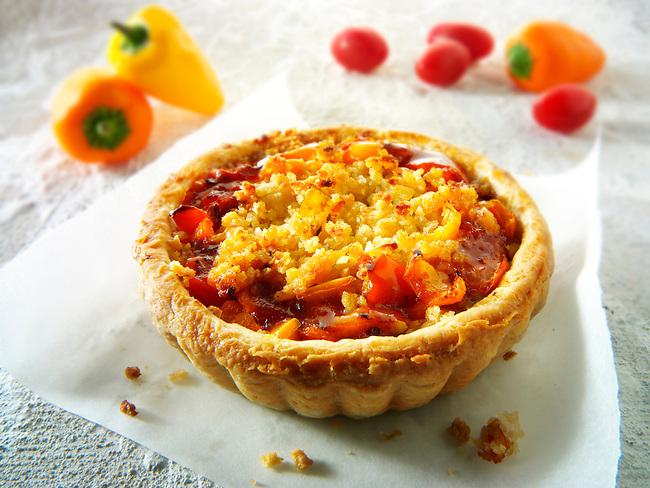 Tomato & Pepper  Pastry Tart