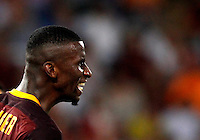 Calcio, Champions League, Gruppo E: Roma vs Barcellona. Roma, stadio Olimpico, 16 settembre 2015.<br /> Roma's Antonio Ruediger reacts during a Champions League, Group E football match between Roma and FC Barcelona, at Rome's Olympic stadium, 16 September 2015.<br /> UPDATE IMAGES PRESS/Riccardo De Luca<br /> <br /> *** ITALY AND GERMANY OUT ***