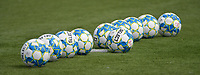 matchballs  pictured during the warming up of a female soccer game between SV Zulte - Waregem and KRC Genk on the second matchday of the 2021 - 2022 season of Belgian Scooore Womens Super League , saturday 28 of August 2021  in Zulte , Belgium . PHOTO SPORTPIX   DIRK VUYLSTEKE