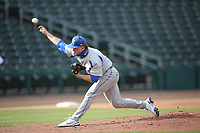 Rogers High School starting pitcher Jackson Wells during first inning action Monday, April 26, 2021, against Har-Ber High School at Arvest Ballpark in Springdale. Check out nwaonline.com/210427Daily/ and nwadg.com/photos for a photo gallery.<br /> (NWA Democrat-Gazette/David Gottschalk)