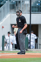 Home plate umpire Paul Clemons during the International League game between the Syracuse Chiefs and the Charlotte Knights at BB&T BallPark on June 1, 2016 in Charlotte, North Carolina.  The Knights defeated the Chiefs 5-3.  (Brian Westerholt/Four Seam Images)