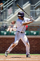 Outfielder Kyle Von Tugeln #1 of the Texas Christian University Horned Frogs at bat during the NCAA Regional baseball game against the Ole Miss Rebels on June 1, 2012 at Blue Bell Park in College Station, Texas. Ole Miss defeated TCU 6-2. (Andrew Woolley/Four Seam Images)