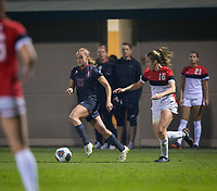 STANFORD, CA - November 9, 2018: Jojo Harber at Laird Q. Cagan Stadium. The top seeded Stanford Cardinal defeated the Seattle Redhawks 3-0 in the opening round of the NCAA tournament.