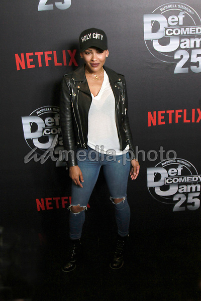 """10 September 2017 - Beverly Hills, California - Meagan Good. Netflix """"Def Comedy Jam 25"""" held at The Beverly Hilton. Photo Credit: Theresa Bouche/AdMedia"""