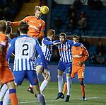 09.02.2019 Kilmarnock v Rangers: Joe Worrall heads wide from a corner