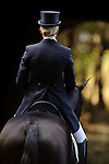 Rider heads to the dressage ring at  Fair Hill International in Fair Hill, MD  on 10/14/11.  (Ryan Lasek / Eclipse Sportwire)