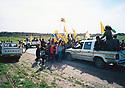 Irakq 2003  The yezidis of Shekhan, welcoming their liberators, the KDP peshmergas <br /> Irak 2003  Les Yezidis de Shekhan accueillent leurs liberateurs, les peshmergas du PDK