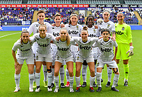 players of Charleroi with Kristina Erman , Julie Challe , Perrine Balant , Manyima Stevelmans , Estelle Dessilly , goalkeeper Josephine Delvaux , Chrystal Lermusiaux , Hanne Hellinx , Renate-Ly Mehevets , Stephanie Pirotte  and Manola Galofaro pictured posing for the tempicture during a female soccer game between RSC Anderlecht Dames and Sporting Charleroi  on the second matchday of the 2021 - 2022 season of Belgian Womens Super League , saturday 28 th of August 2021  in Brussels , Belgium . PHOTO SPORTPIX   DAVID CATRY