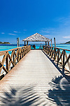 Jetty on Malolo Island, location of Tropica Island Resort (previously Walu Beach Resort) in the Mamanuca Islands, Fiji