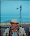 1997 -- Big John on his ranch in Southern New Mexico. Scenes from the great state of New Mexico. Along Route 66 and down towards White Sands National Monument..©Andrew Kaufman/Contact Press Images..