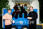 Horsing around in the horse box at the Féile-Family Camps in Pearse Park on Sunday, in the horse box, Sgt Tim Landers and Gda Marcus Nolan and Darragh O'Shea and Elizabeth O'Connor outside..