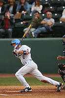 February 21 2009: Niko Gallego of the UCLA Bruins during game against the UC Davis Aggies at Jackie Robinson Stadium in Los Angeles,CA.  Photo by Larry Goren/Four Seam Images