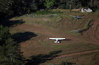 aerial photograph airplanes private runway Sonoma County, California