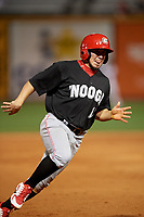 Chattanooga Lookouts Alberti Chavez (17) running the bases during a Southern League game against the Birmingham Barons on May 1, 2019 at Regions Field in Birmingham, Alabama.  Chattanooga defeated Birmingham 5-0.  (Mike Janes/Four Seam Images)