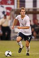 United States midfielder Michael Bradley (4). The men's national teams of the United States and Argentina played to a 0-0 tie during an international friendly at Giants Stadium in East Rutherford, NJ, on June 8, 2008.
