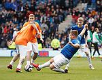 05.05.2019 Rangers v Hibs: Grado fires in a tackle