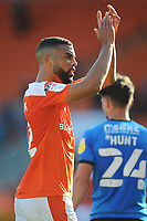 Blackpool's CJ Hamilton applauds the fans at the full-time whistle<br /> <br /> Photographer Kevin Barnes/CameraSport<br /> <br /> The EFL Sky Bet League One - Blackpool v Swindon Town - Saturday 19th September 2020 - Bloomfield Road - Blackpool<br /> <br /> World Copyright © 2020 CameraSport. All rights reserved. 43 Linden Ave. Countesthorpe. Leicester. England. LE8 5PG - Tel: +44 (0) 116 277 4147 - admin@camerasport.com - www.camerasport.com