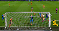 Hull City's Martin Samuelsen scores his side's second goal <br /> <br /> Photographer Alex Dodd/CameraSport<br /> <br /> EFL Papa John's Trophy - Northern Section - Group H - Hull City v Grimsby Town - Tuesday 17th November 2020 - KCOM Stadium - Kingston upon Hull<br />  <br /> World Copyright © 2020 CameraSport. All rights reserved. 43 Linden Ave. Countesthorpe. Leicester. England. LE8 5PG - Tel: +44 (0) 116 277 4147 - admin@camerasport.com - www.camerasport.com