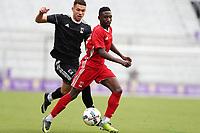 Orlando, Florida - Saturday January 13, 2018: Mark Segbers and Ricky Lopez-Espin. Match Day 1 of the 2018 adidas MLS Player Combine was held Orlando City Stadium.