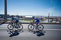 Julian Alaphilippe (FRA/Deceuninck-QuickStep) crossing the viaduct that connects the island of Oléron to the mainland<br /> <br /> Stage 10 from île d'Oléron (Le Château-d'Oléron) to Île de Ré (Saint-Martin-de-Ré)(169km)<br /> <br /> 107th Tour de France 2020 (2.UWT)<br /> (the 'postponed edition' held in september)<br /> <br /> ©kramon