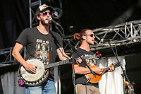Dylan Perron et elixir Gumbot performs at the Festival d'ete de Quebec (Quebec City Summer Festival) Friday July 10, 2015.